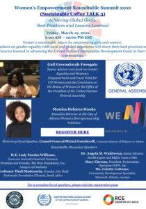 Sustainable Coffee TALK Series 3 - Women's Empowerment Roundtable Summit Flyer.